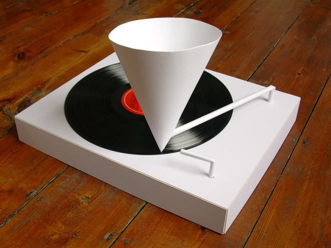 A Paper Record Player Darkjive Com