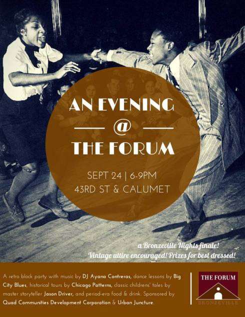 evening at the forum event flyer