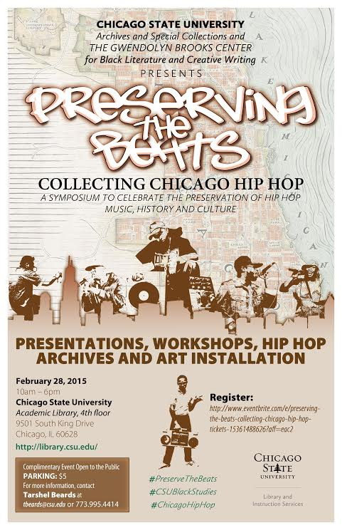 preserving the beats event flyer